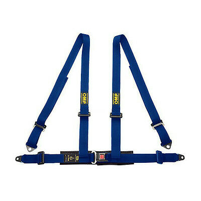 OMP Road 4 - points Safety Belts ECE, DA505 Blue