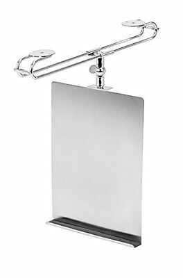 Supporto per Cookbook Tablet PC / argento opaco regolabile 17 x 3,5 x 28 (u1e)