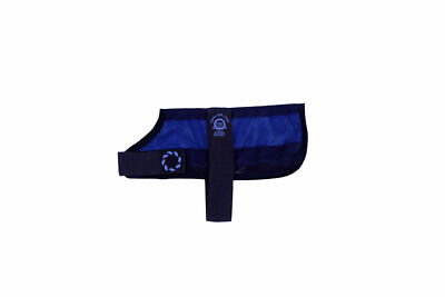 AniMate Summer Cooling Dog Coat And Bag - Navy - Various Sizes