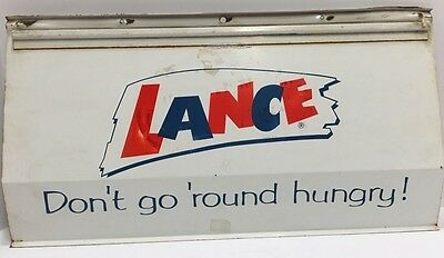 Original Vintage 1960S Lance Don't Go Around Hungry Metal Sign
