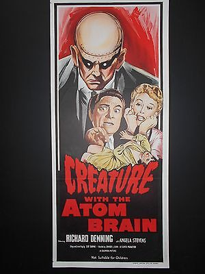 CREATURE WITH THE ATOM BRAIN poster 1955 Richard Denning Sci-fi Horror