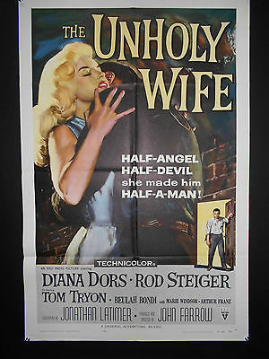The Unholy Wife DIANA DORS US One Sheet Poster 1957 ROD STEIGER