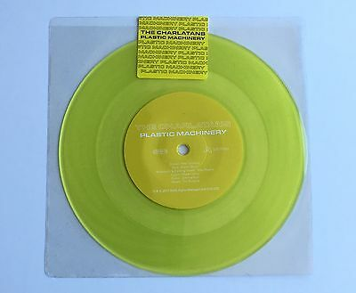 "The Charlatans Plastic Machinery *** Limited Yellow 7"" vinyl ***"
