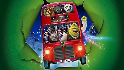 2 TICKETS FOR SHREK'S ADVENTURE! LONDON SUNDAY 16th JULY 2017 1.30PM RRP £55