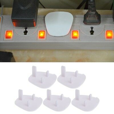 5Pcs UK Power Kid Socket Cover Baby Child Protector Guard Mains Point Plug