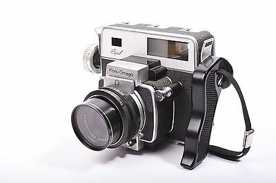 Rapid Koni-Omega rangefinder camera by Konica with Hexanon f/3.5 - 90mm lens.