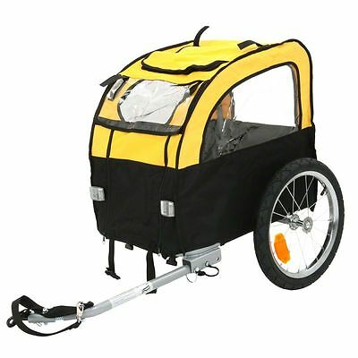 Small Dog Bike Trailer Cycling Carrier Cage Transport Pet Travel Car Bicycle