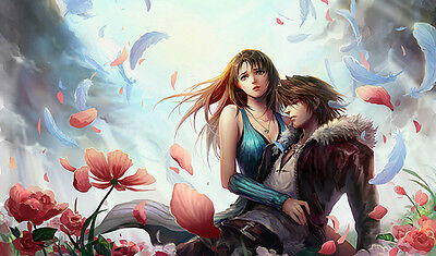 #79 Custom Playmat Final Fantasy TCG Mat Work Mat Large Mouse Pad Squall Rinoa