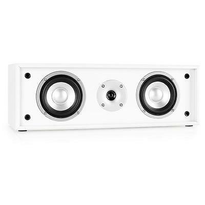 Auna 2-Way Hifi Home Stereo Passive Center Speaker 35W Rms White Subwoofer