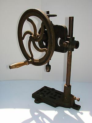 Antique/Vintage Cast Iron Hand Drill for Work or Display