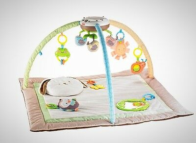 Baby Gym Hanging Toys Play Mat Soft Music Lights Infant Child Activity Centre