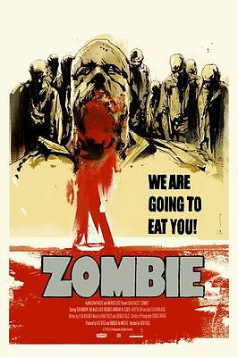 Zombie Lucio Fulci Mondo Poster By Jock Limited Edition Horror Screen Print