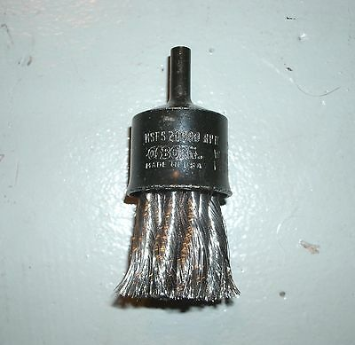 """Osborn 30038 Knot Wire 1"""" Stainless Steel End Brush, 20000 RPM, box of 24"""