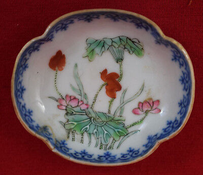 Antique  Chinese Porcelain  Small Plate Signet