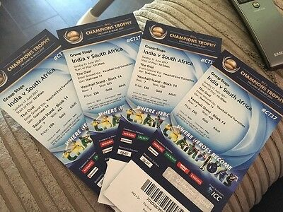ICC CHAMPIONS TROPHY   IND vs SA - 4 gold tickets(300 each)