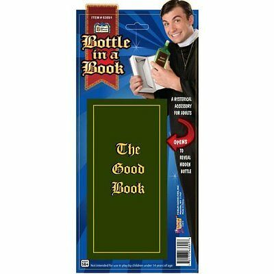 Priest Bible The Good Book Liquor Bottle Costume Accessory