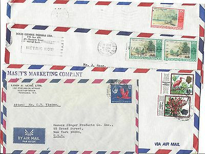 Trinidad And Tobago - Four Airmail Covers