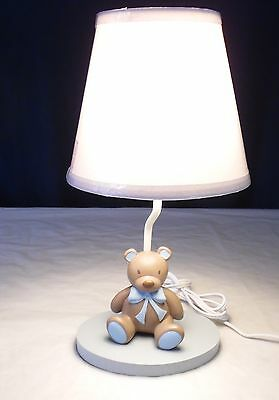 Cocalo Preston Teddy Bear Sitting  Lamp Base & Replacement New White Shade