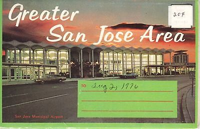 Greater San Jose Area, 13 Views VINTAGE FOLDER! Santa Clara, Los Altos, San Fran