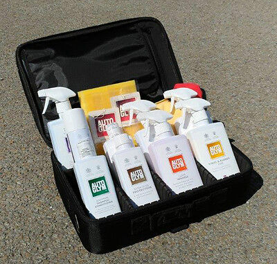 NEW AUTOGLYM Perfect Valet Cleaning Bag Kit with Protective Case Organizer BLACK