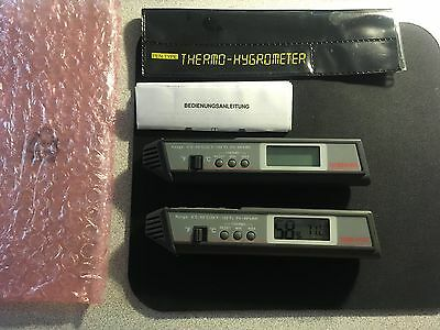Pen Type Thermo-Hygrometer Humidity Meter w LCD Display and Memory Qty (2) NEW