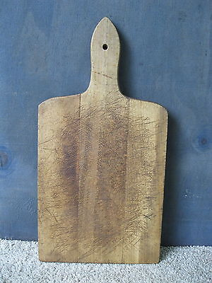 """Vintage Bread Board Primitive Country 14"""" x 7"""" Wood, Cutting Dough"""