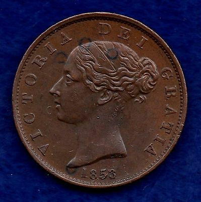 Great Britain, Victoria, 1853 Halfpenny (Ref. c4231)