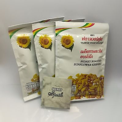 HONEY ROAST SUNFLOWER KERNELS HEALTHY SNACK SEEDS PARTY CAMPING 3 packs x 30G.