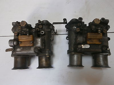 Dellorto 45 DHLA Side draught Carburetors, complete with 4 pipes