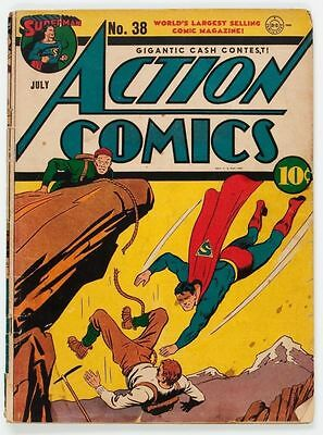 Action Comics #38 - DC Comics - July 1941 - 1st Print - Superman - Golden Age