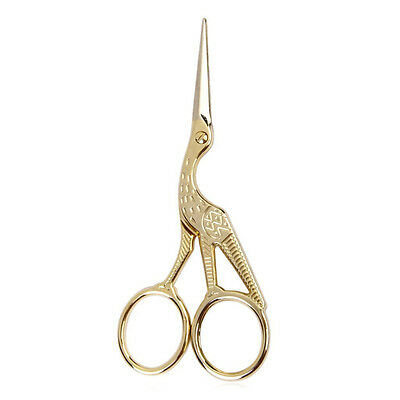 Retro crane sewing scissors 11.5 cm Golden V9W8