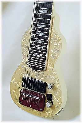 Dillion  Antique Ivory Pearl 6 or 8 string lap steel. only 2 left till 2018.