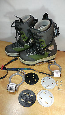 Axel Snowboard Boots Adult Size 10 With Switch Step-In Bindings