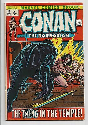 Conan The Barbarian #18 : Fine 6.0 : UK Pence Variant : First Print
