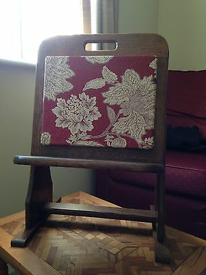Vintage 1940s-50 Magazine Rack and Book stand In Oak Fabulous!