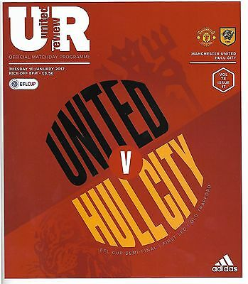 MANCHESTER UNITED v HULL CITY LEAGUE CUP SEMI-FINAL 1st LEG 2016/17 MINT