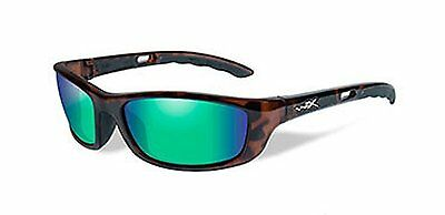 cd9d2ec3cf Wiley X Men s P-17 Polarized Emerald Green Gloss Demi Sunglasses Brown One  Size