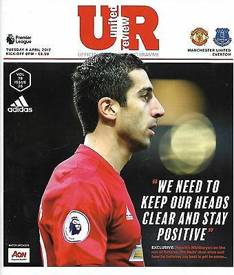 MANCHESTER UNITED v EVERTON Premier League 2016/17 MINT