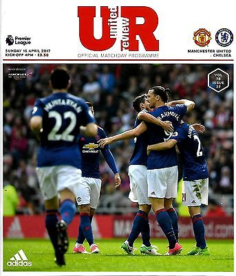 MANCHESTER UNITED v CHELSEA Premier League 2016/17 MINT