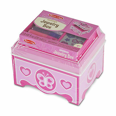 Melissa And Doug Decorate Your Own Wooden Jewelry Box NEW Toys Arts And Craft
