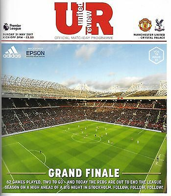 MANCHESTER UNITED v CRYSTAL PALACE Premier League 2016/17 MINT