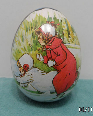 Tin Litho Easter Egg Candy Container Design by Ian Logan Switzerland