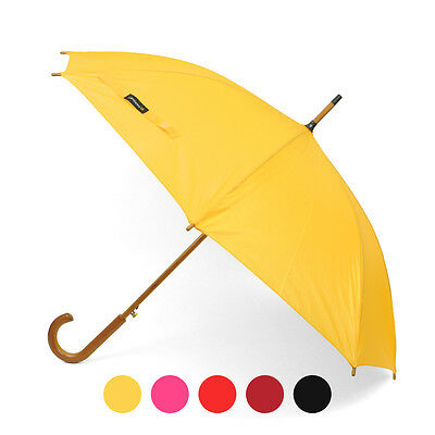 Wooden Auto-Open Umbrella with Metal Frame (UL1704)