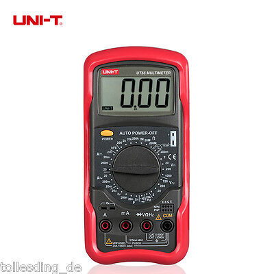 UNI-T UT55 Auto Power off DMM Digital Multimeter Temperatur Tester Messgerät DE