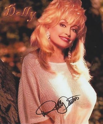 Dolly Parton (Candid) I Will Always Love You RARE NUDE SEE THRU SIGNED RP 8x10!!