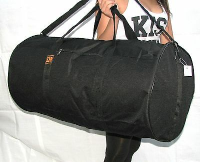 "30"" 50Lb. Capacity Round Black Duffle Bag/ Gym Bag / Luggage / Tote Bag Suitcase"