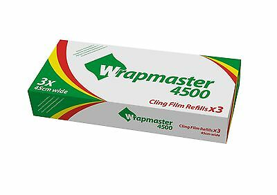 "Wrapmaster 4500 (18"") Clingfilm 3 Rolls Of 300Mtr"