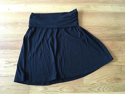 Old Navy Maternity Fold Over Skirt - Black Xs Preowned