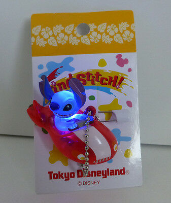Japan Disney Find Stitch Series Stitch in Rocket Car Light up Pin Dangle Figure