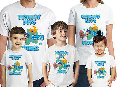 Bubble Guppies Shirt Personalized Family Birthday Shirts Custom Name And Age